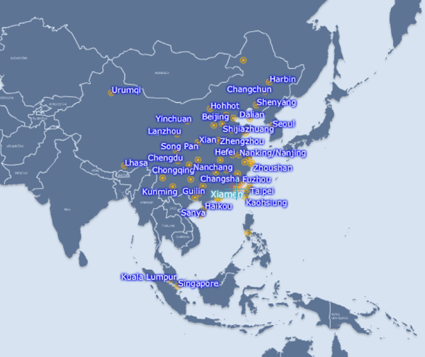 Xiamen Airlines Route Map.Xiamen Airlines Now Asia S Sixth Largest Carrier Earning