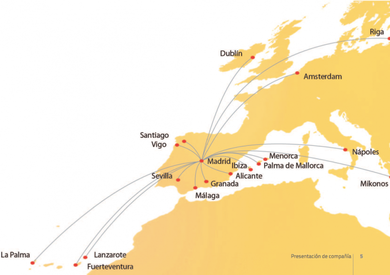 iberia express summer 2012 schedule route map