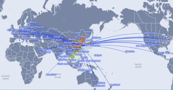 New Routes To China To Flourish In The Next Few Years CAPA - Us airways europe route map