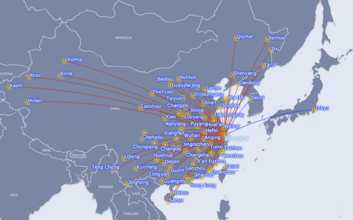 Xiamen Airlines Route Map.New Routes To China To Flourish In The Next Few Years Capa