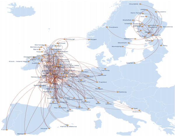 Flybe Route Map Changes in Northern Europe: Finnair outsources European routes to  Flybe Route Map
