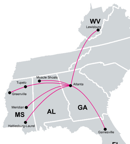 Delta keeps select small markets through new Silver Airways ... on ameriflight route map, luxair route map, etihad airways route map, qatar airways route map, long john silver's map, boutique air route map, eastern air lines route map, volaris route map, frontier route map, saudia route map, us airways route map, island air route map, delta air lines atlanta airport map, air macau route map, air niugini route map, envoy air route map, pan american world airways route map, ravn alaska route map, air zimbabwe route map,
