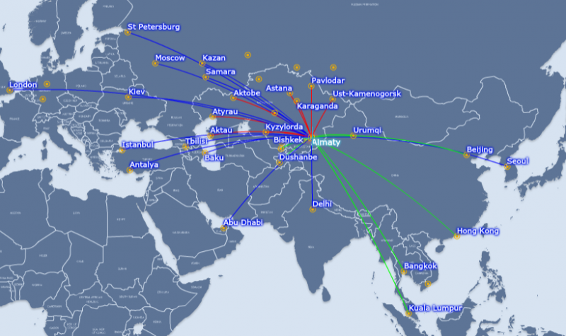 Air astana plans more rapid regional growth as kazakhstan emerges as astana has regional connections but no long haul services to the far east gumiabroncs Images
