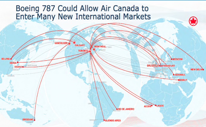 Air Canada Shakes Out Its Work With High Profile Longhaul: Air Canada Flight Map At Infoasik.co