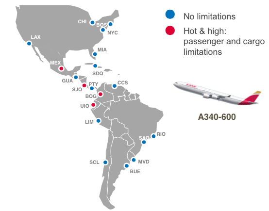 iberia americas route map nov 2014