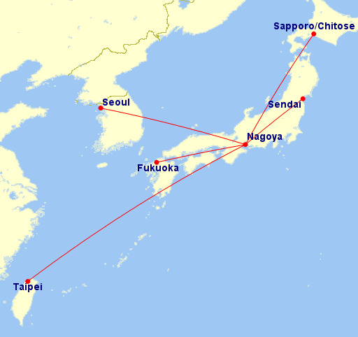 Airasia Routes Map Airasia Japan Initial Route