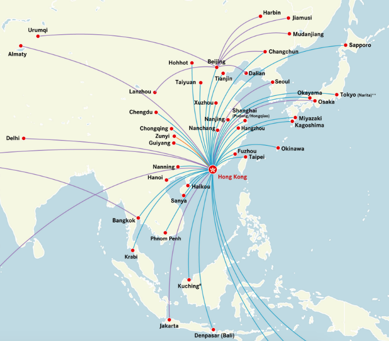 Hong kong airlines and hk express complex segmentation as they note route map excludes hong kong airlines operated service to osaka gumiabroncs Image collections