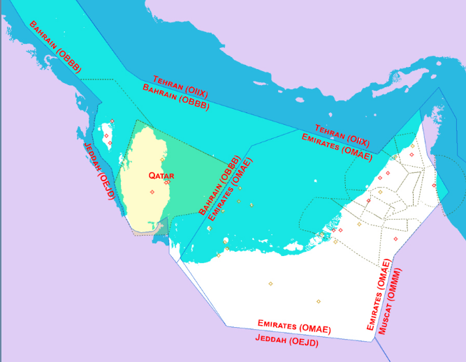 Map Of Gulf Aire Blocs