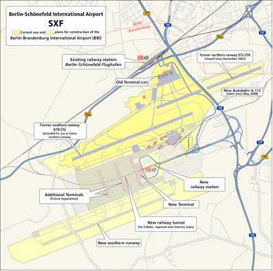 Berlin Schoenefeld Airport Dramatic Passenger Growth Figures And - Berlin rail map pdf