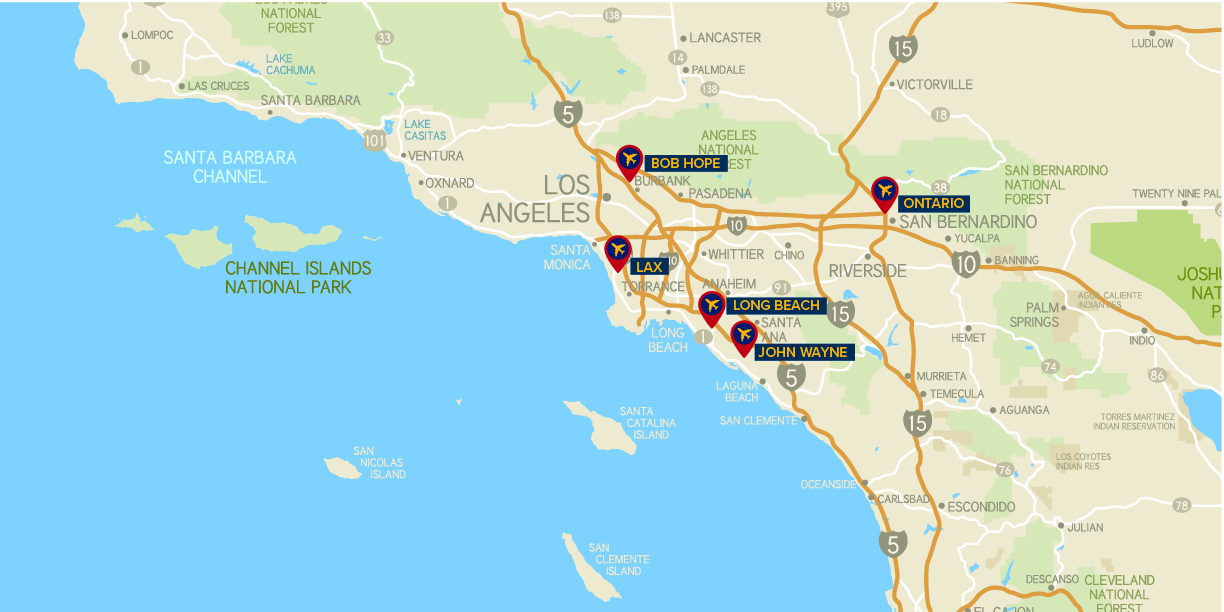 los angeles area airports map Los Angeles International Potentially A Model For The Operation los angeles area airports map